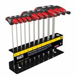 Klein Tools JTH610E 10 pc 6'' (152 mm) SAE Journeyman T-Handle Set with Stand
