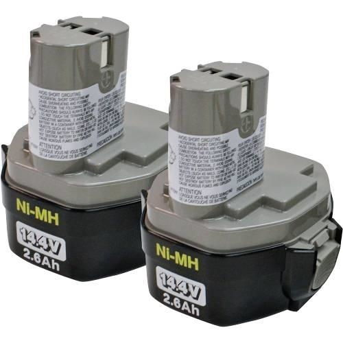 Makita Tools 194157-8 14.4V (2.6Ah) Ni-Mh Pod Battery 1434, 2/Pk