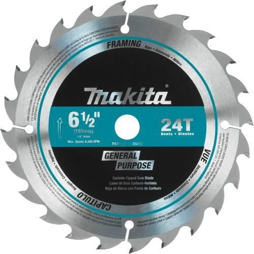 "Makita Tools A-85092 6-1/2"" 24T Carbide-Tipped Blade"