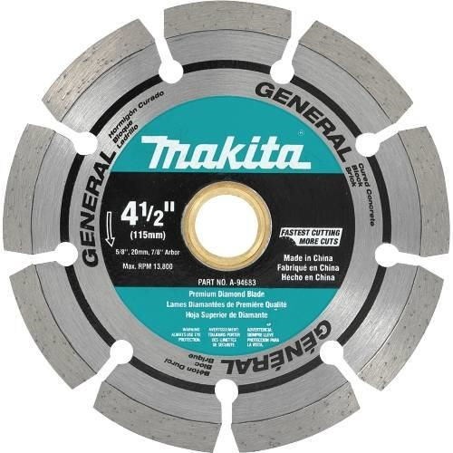 "Makita Tools A-94683 4-1/2"" Diamond Blade Segmented, General Purpose"