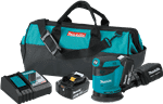 Makita XOB01T 18 Volt LXT Lithium-Ion Cordless 5 in. Random Orbit Sander Kit, 5.0 Ah