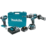 Makita XT267M 18 Volt LXT Lithium-Ion Brushless Cordless 2-Piece Combo Kit (Hammer Drill/ Impact Driver) 4.0 Ah