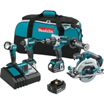Makita XT449T 18V LXT Lithium-Ion Brushless Cordless 4-Piece Combo Kit