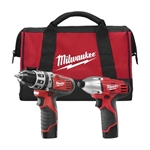 Milwaukee 2497-22  12-Volt 2- Tool Combo Kit Hammer Drill And Impact Driver