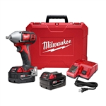 "Milwaukee M18 1/2"" Impact Wrench Kit with Pin Detent 2659-22"