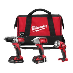 Milwaukee 2691-23 M18 Cordless 3-Tool Combo Kit