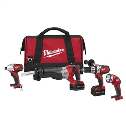 2692-24 M18 Cordless Lithium-Ion 4-Tool Combo Kit by Milwaukee Tools