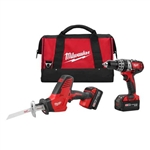 Milwaukee 2695-22 M18 Cordless 2-Tool Combo Kit