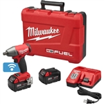 "Milwaukee 2759-22 M18 Fuel 1/2"" Compact Impact Wrench w/ Pin Detent with ONE-KEY Kit"