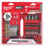 Milwaukee 48-32-4013 Shockwave Impact Duty Driver Bit Set (50-Piece)