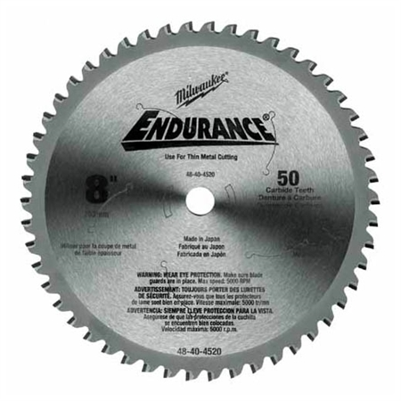 Milwaukee 48-40-4520 Circular Saw Blade Metal Cut 8 Inch 50 Tooth
