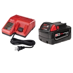 Milwaukee 48-59-1813 M18 Battery with Multi-Voltage Charger