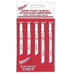 Milwaukee Tool 49-22-1178 JIG SAW BLADE ASSORTMENT Pack 5 Piece