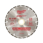 "Milwaukee 49-93-7805 4-1/2"" STEELHEAD Diamond Cut-Off"