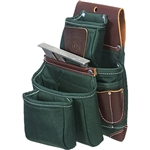 Occidental Leather 8062LH OxyLights 4 Pouch Fastener Bag - Left Handed Best Tool Belt Systems Made in America