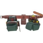 Occidental Leather 8080DB XXXL OxyLights Framer Set with Double Outer Bags Best Tool Belt Systems Made in America