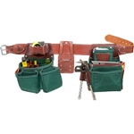 Occidental Leather 8080DBLH XXL OxyLights Framer Set with Double Outer Bags - Left Handed Best Tool Belt Systems Made in America