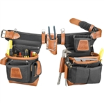 Occidental Leather 9850LH Adjust-to-Fit Fat Lip Tool Bag Set - Black - Left Best Tool Belt Systems Made in America