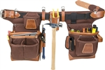 Occidental Leather 9855 Adjust-to-Fit Fat Lip Tool Bag Set - Cafe Best Tool Belt Systems Made in America