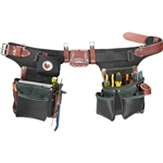 Occidental Leather B9588 Adjust-to-Fit Green Building Tool Belt Set -  Black Best Tool Belt Systems Made in America