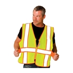 Protective Industrial Products 302-USV5LY - Hi-Visibility Vest - ANSI Class 2 - Vest