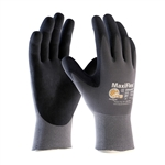 PIP 34-874 - MaxiFlex by ATG Black Micro-Foam Coated Palm and Finger Tips Gray Liner