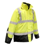 SJ41-3ZGS-M Parka: 3-in-1 High Visibility Weatherproof by Radians