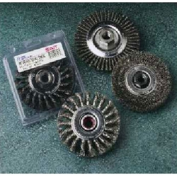 Sait 06450 4 x .014 Crimp Wire Wheel for Small Grinders 5/8 - 11
