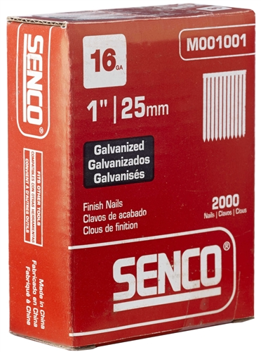 SENCO DA19EABN 15 Ga. 34° Angled Strip Finish Nails