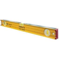 "Stabila 38696 - 96"" builder's level, Magnetic, High Strength Frame, Accuracy Certified Professional Level"