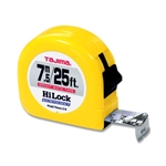 Tajima Hand Tools HL-25/7.5MBW Features 25 ft. / 7.5 m x 1 inch wide acrylic-coated steel tape