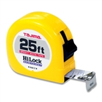 Tajima Hand Tools HL-25BW Features 25 ft. x 1 inch wide acrylic-coated steel tape