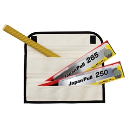 Tajima Hand Tools JPR-SET Features 4-piece set include two Japan Pull pull-stroke blades, straight handle, and canvas case