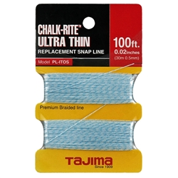 Tajima Hand Tools PL-ITOS Features OEM replacement snap-line for Chalk-Rite Chalk snap-line tool