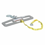 Vestil LM-HP6-S Lift Master Hook Plate 6K Swivel - Fork Truck Attachments