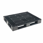 Vestil PLP2-4840-BLACK Black Plastic Pallet 6000 Lb 48 X 40 - Packaging Equipment