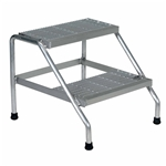 Vestil SSA-2 Aluminum Step Stand Welded 2 Step - Industrial & Commercial Ladders