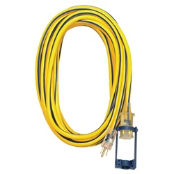 Voltec 05-00112 50-foot 14/3 SJTW Yellow/Blue Ext Cord w/E-Zee Lock