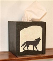 Tissue Box Cover- Wolf Design