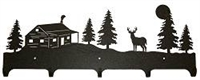 Wildlife Coat Hooks- Deer and Cabin Design