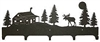 Wildlife Coat Hook- Moose and Cabin Design