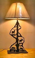 Scenery Style Table Lamp- Moose, Bear, Deer Design