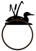 Towel Ring - Loon with Cattails Design