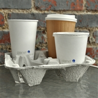4-Cup Molded Fiber Beverage Carrier