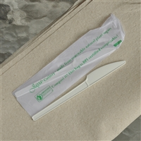 "StalkMarket Compostable 6.5"" Knife Wrapped"
