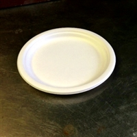 "EcoSource Compostable Bagasse 9"" Round Plate"