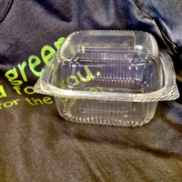 StalkMarket Clear Compostable PLA Clamshell 6""