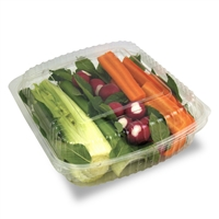 StalkMarket Clear Compostable PLA Clamshell 9""