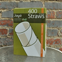 StalkMarket Compostable Clear PLA Straw (Individually Wrapped)