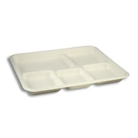 StalkMarket Compostable Bagasse Food Tray Five Compartment